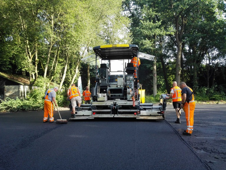 The asphalt has since been used to pave a parking lot in Groningen