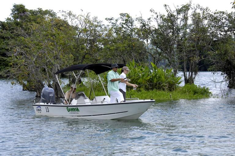 Fishing in Gamboa, Panama
