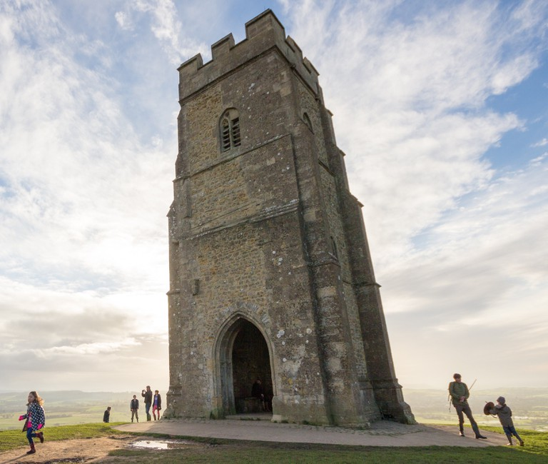 Climb the Glastonbury Tor and look out over the countryside