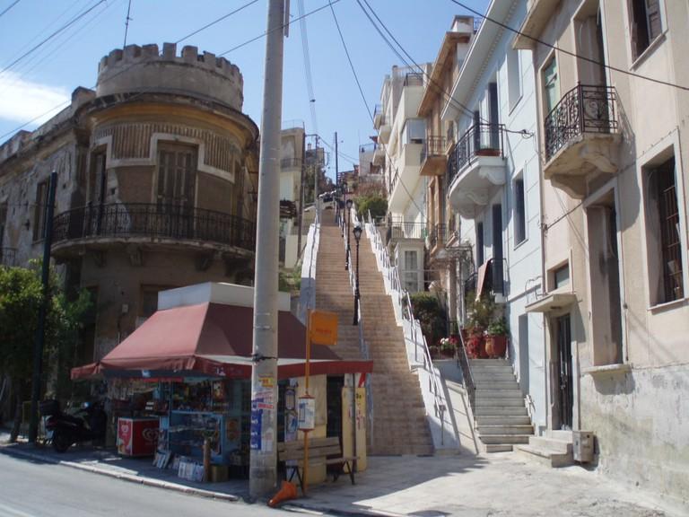 View of Kastella, in Piraeus, Greece
