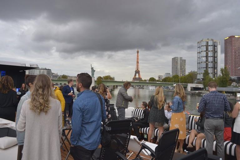 Guests enjoying the views