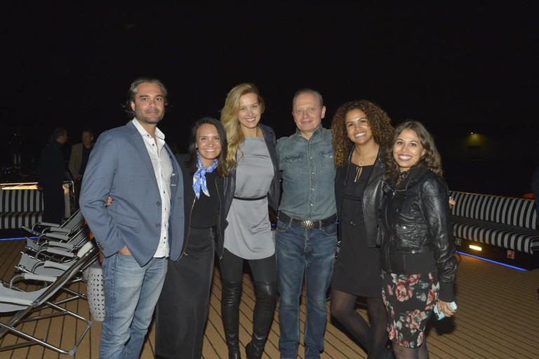 Petra Němcová with members of the U by Uniworld team