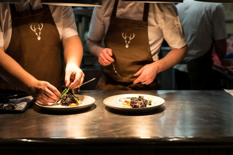 Michelin starred cuisine at The Forest Side restaurant