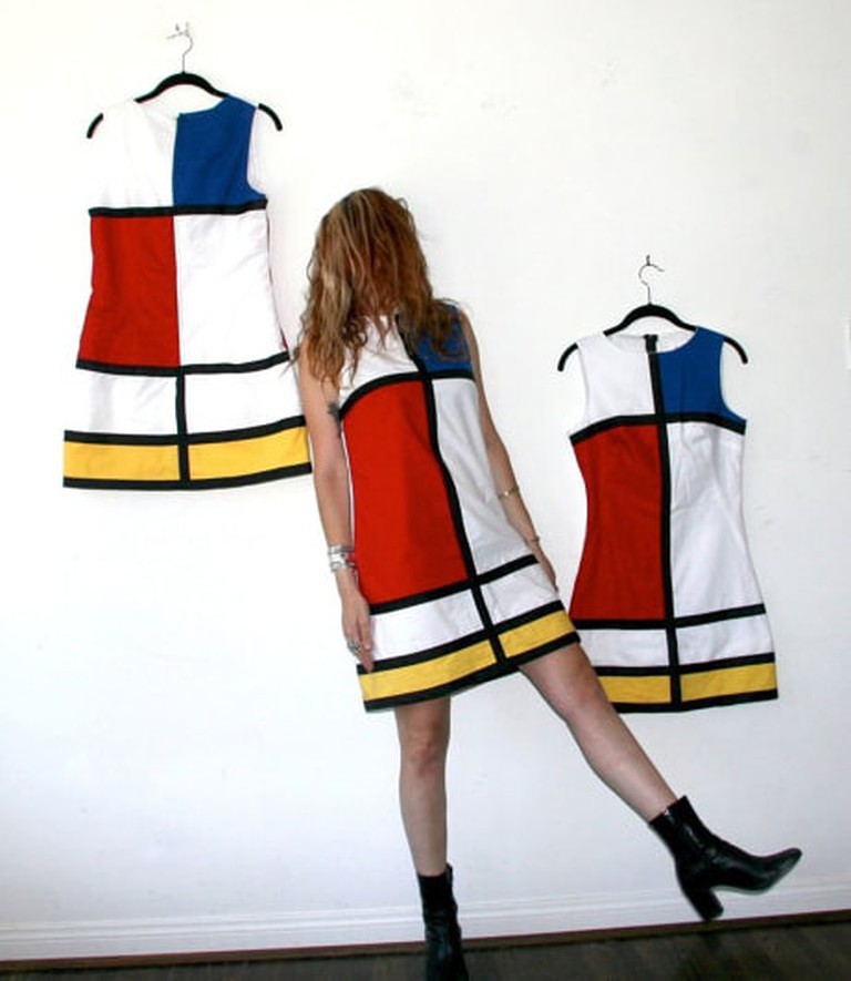 Mondrian Dress | © rustycuts / Etsy
