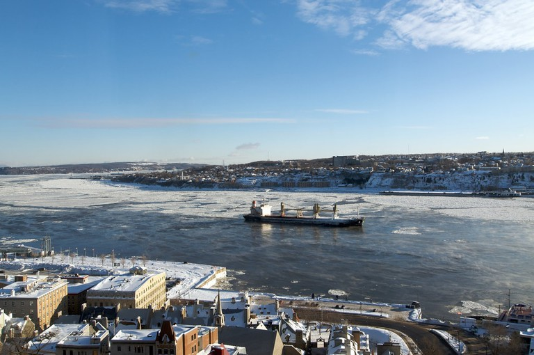 The icy Saint Lawrence