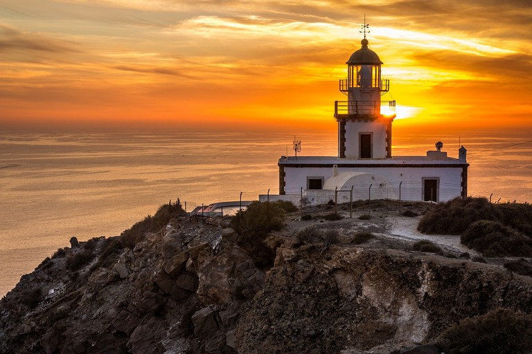 Sunset at the Akrotiri Lighthouse