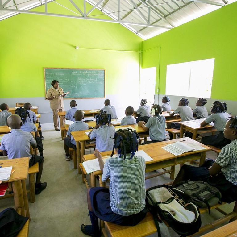 One of the 165 schools the Happy Hearts Fund has helped to rebuild