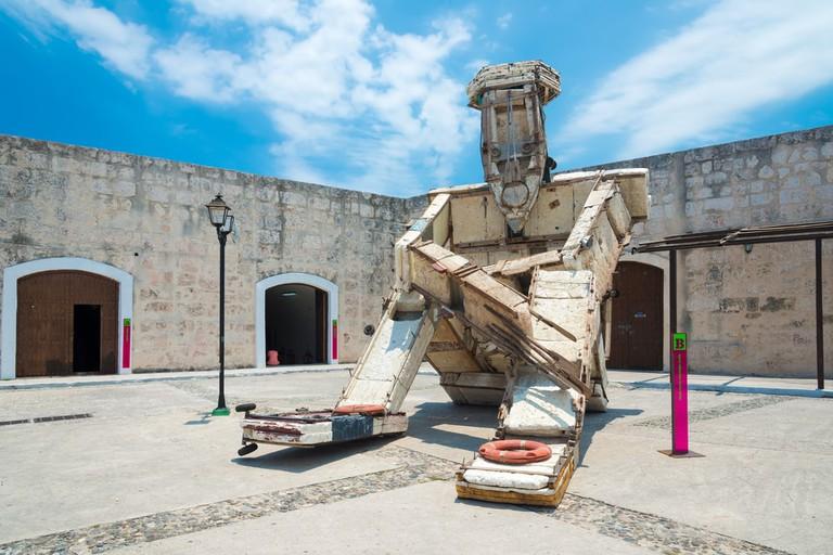 An installation by Kcho at the Havana Biennale, 2015
