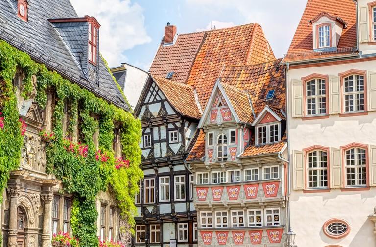 Timber framing houses Quedlinburg old town, Germany | © mije_shots/Shutterstock