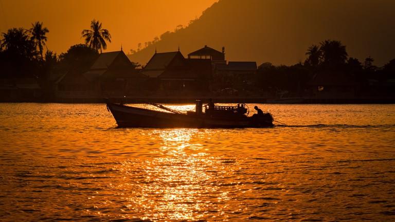 Sunset on Kampot River