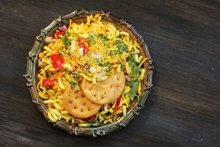 Chaat is a popular street food available everywhere in India