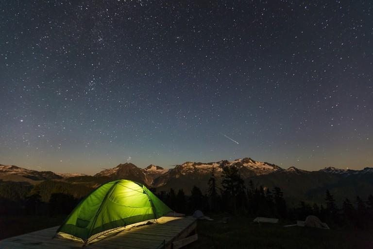 Camping at Elfin Lakes in Garibaldi Provincial Park