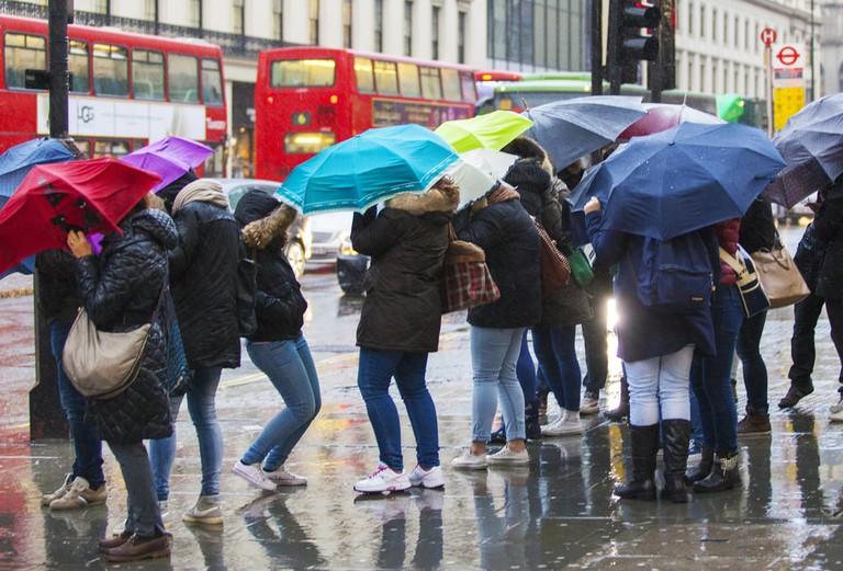 Rain makes 14% of people feel frustrated