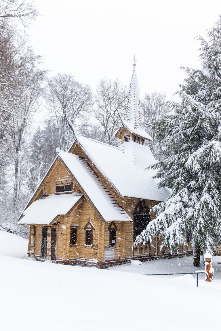church Stabkirche Stiege in Winter, Germany