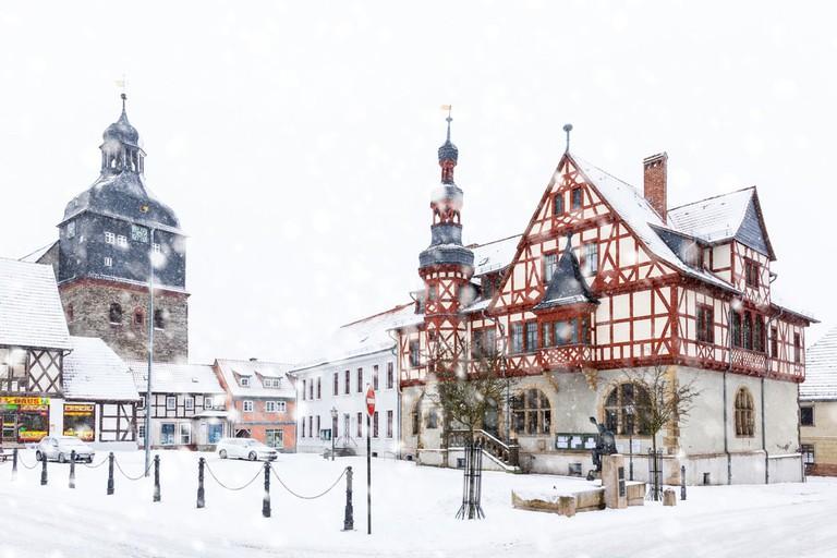 Harzgerode in Winter, Germany