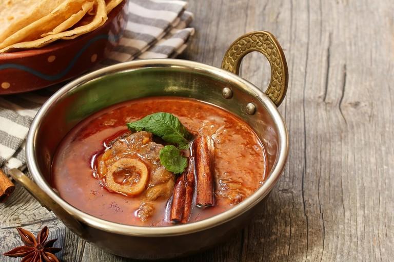 Rogan Ghosht is a Kahsmiri dish usually made with lamb