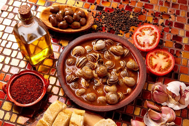 These snails are eaten as tapas