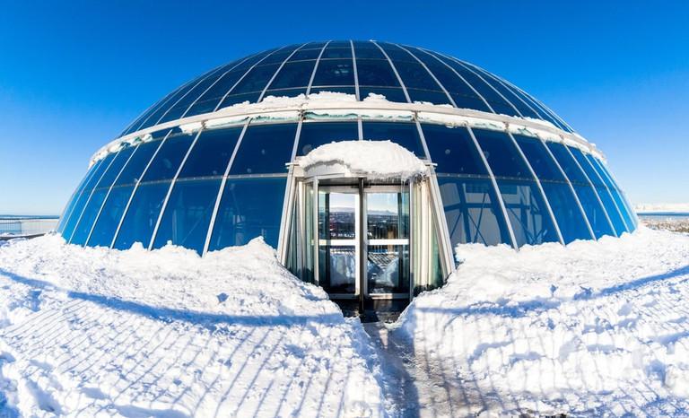 Perlan Dome of Reykjavik city, Iceland   © KeongDaGreat/Shutterstock