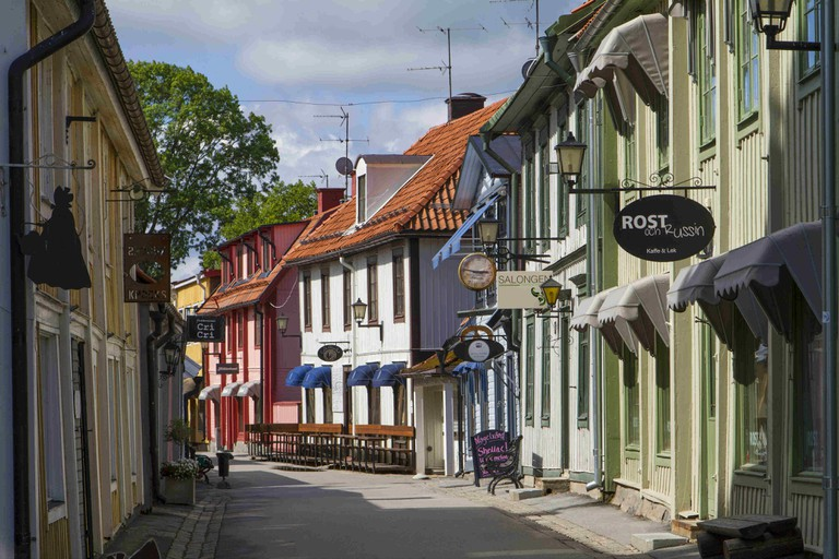 Stora gatan, the old main street in Sigtuna