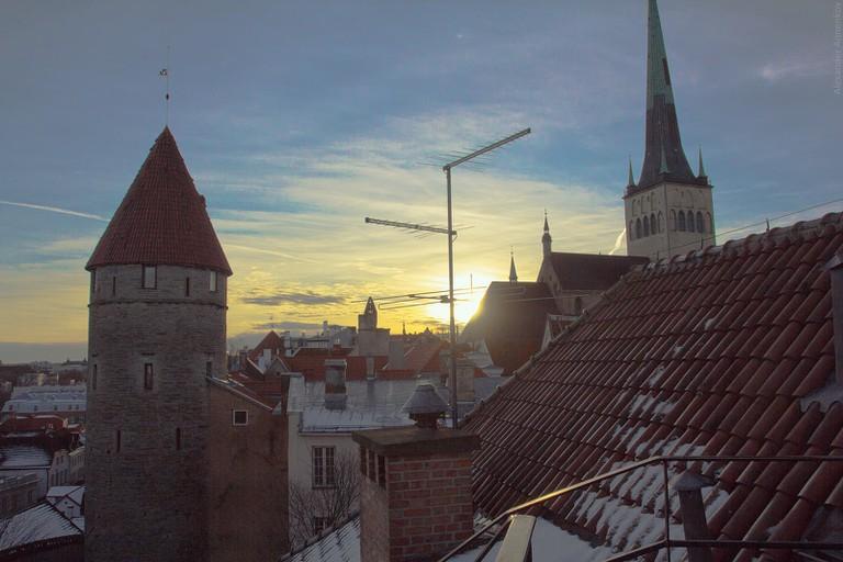 Sunset in Tallinn