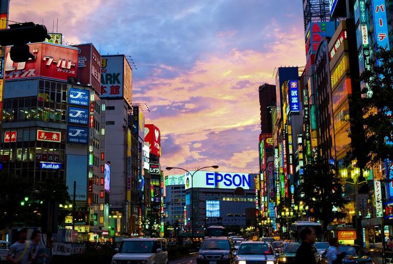 Sunset over_Shinjuku