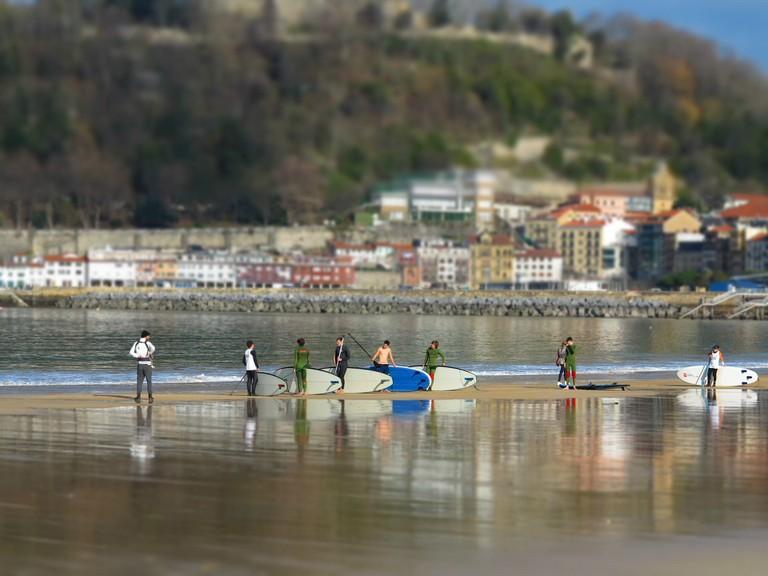 Surf class in San Sebastián