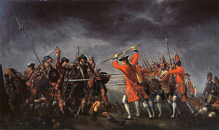 The Battle of Culloden, 1746 Oil Painting by David Morier