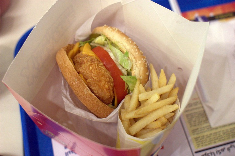 The chicken burgers in Dubai are surprisingly amazing