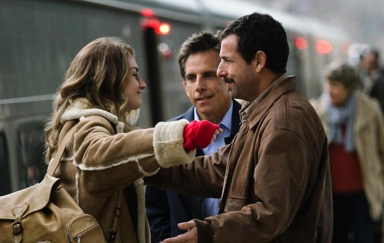 Grace Van Patten, Ben Stiller, and Adam Sandler in 'The Meyerowitz Stories (New and Selected)' | © Netflix