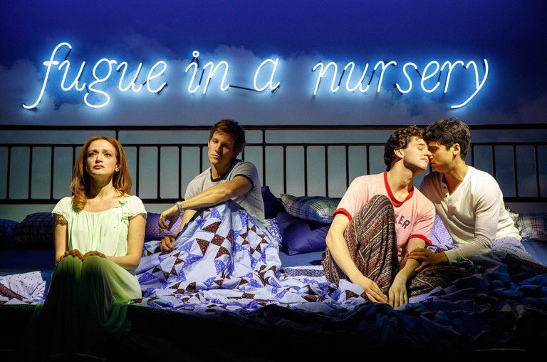 Roxanna Hope Radja, Ward Horton, Michael Urie, and Michel Rosen in 'Torch Song' | © Joan Marcus