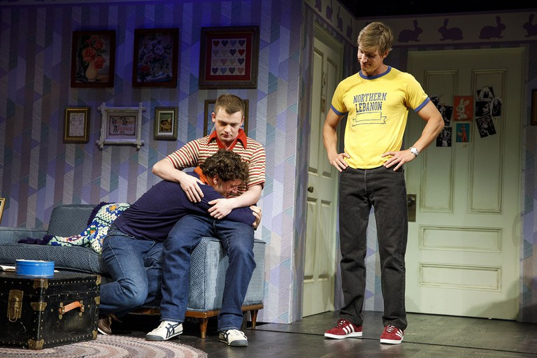 Michael Urie, Jack DiFalco, and Ward Horton in 'Torch Song' | © Joan Marcus