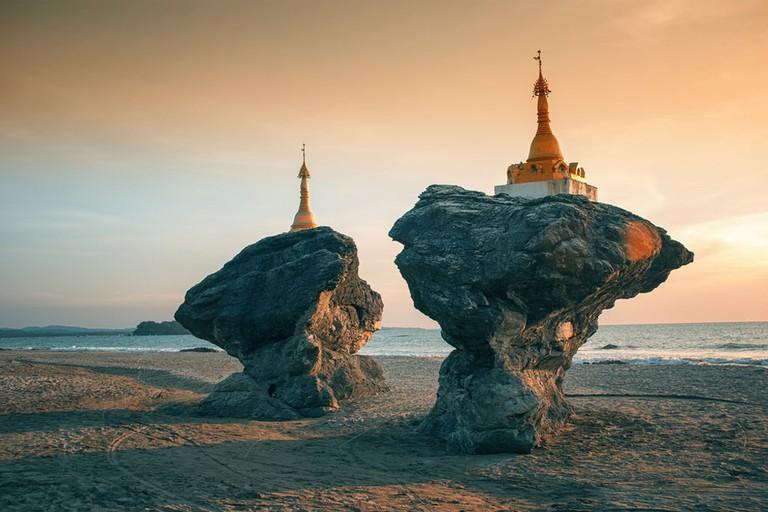 Two-Twin-Pagodas-Nwe-Saung-Beach