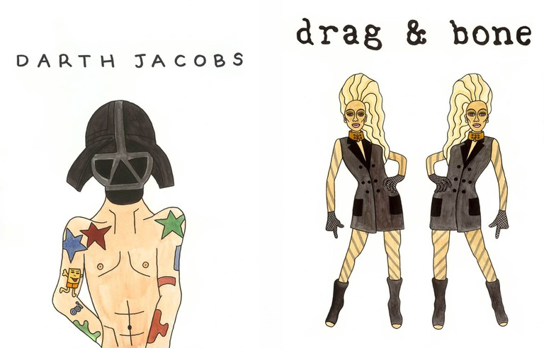 """""""Darth Jacobs"""" and """"Drag and Bone"""" by Angelica Hicks, in collaborations with i am OTHER"""