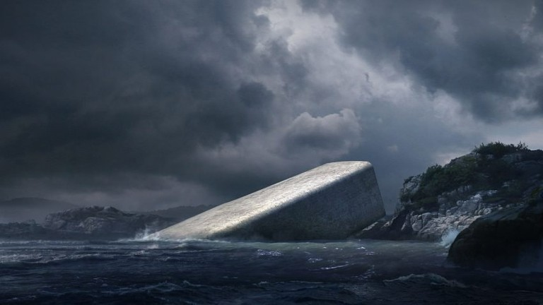 The dramatic weather and landscape of Norway will compliment the building