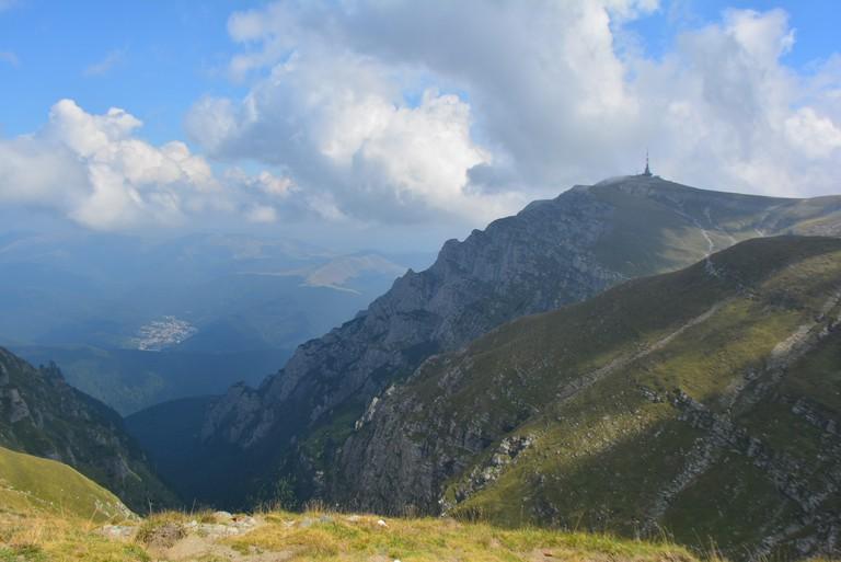 View over Bucegi Mountains