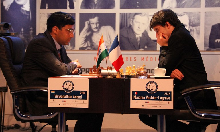 Vish Anand playing Maxime Vachier-Lagrave