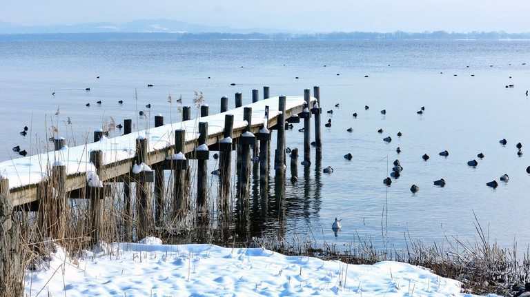 Chiemsee in winter