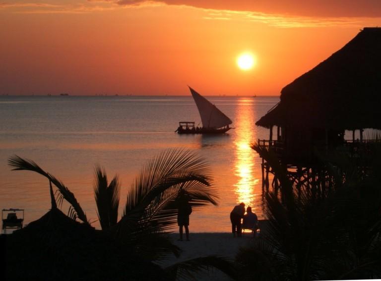 Sunset in Zanzibar
