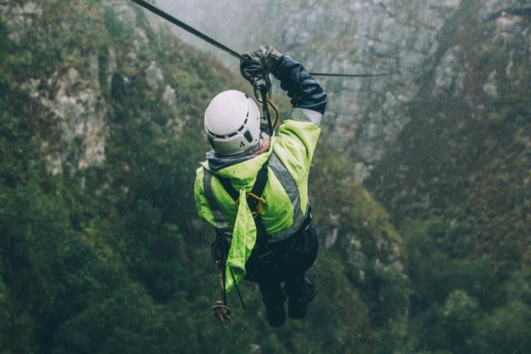 Ziplining in Elgin