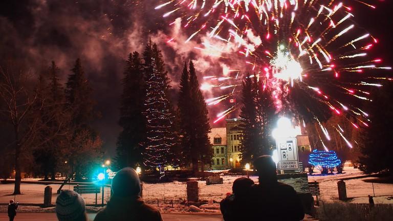 Fireworks in Banff | © Wilson Hui/Flickr
