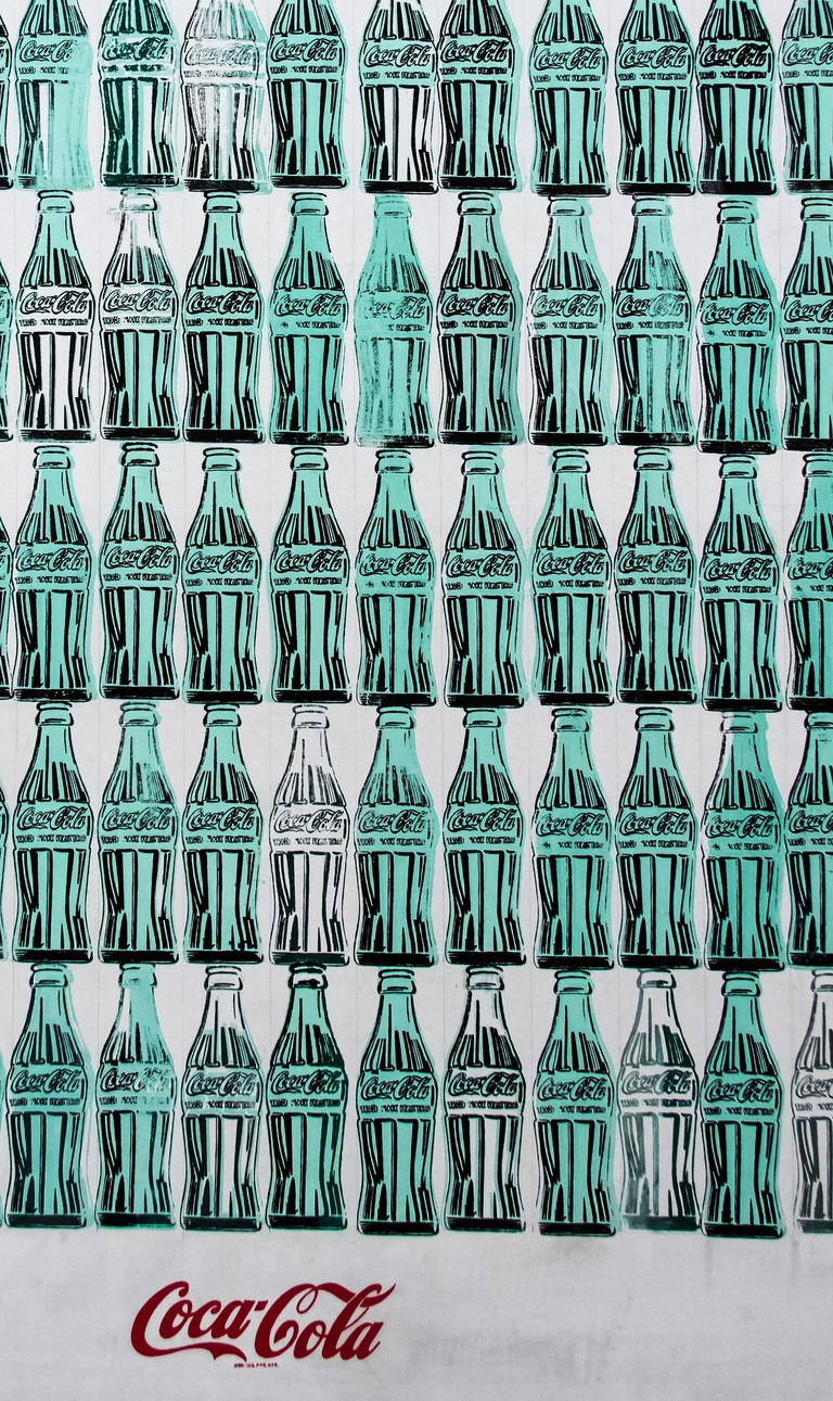 Detail - Green Coca-Cola Bottles (1962) | Photo by Andrew Moore via Flickr