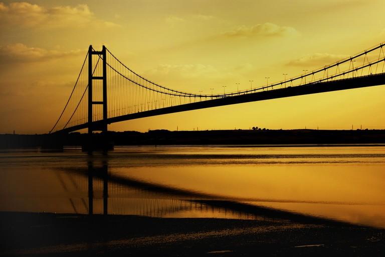 Sunset at Humber Bridge, North Yorkshire