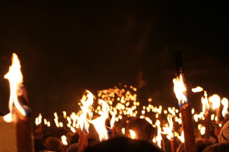 Torchlight Procession   © Gary Denham / Flickr