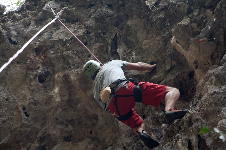 Rock Climbing, Vang Vieng | © Christian Haugen/Flickr