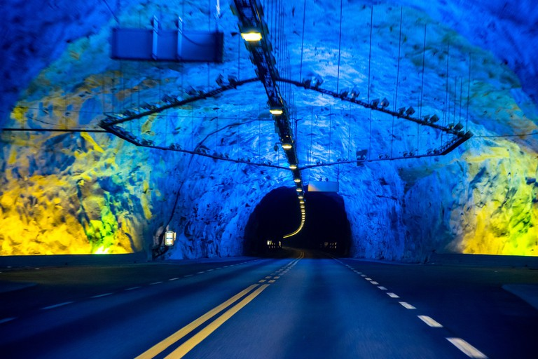 The lights in the tunnel cast an eerie glow | © dconvertini / Flickr
