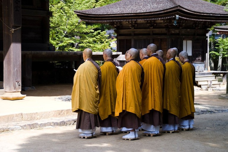 Monks at Koyasan