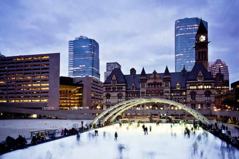 Iceskating at Nathan Phillips Square | © Benson Kua/Flickr