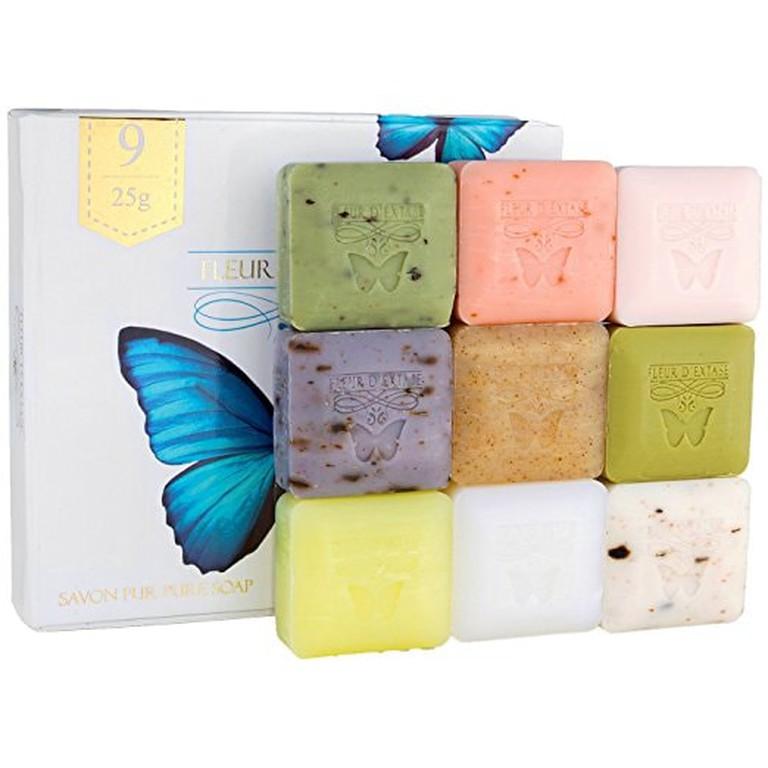 French-Milled Soap Soaps, Box Set of 9| Courtesy of Amazon
