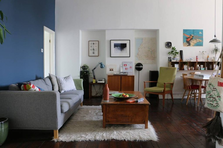 Spacious flat with retro furnishings