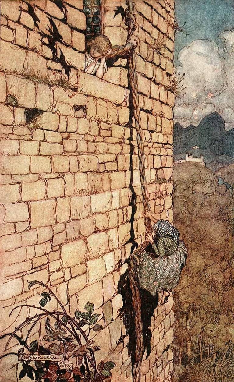Arthur Rackham - Rapunzel   WikiCommons